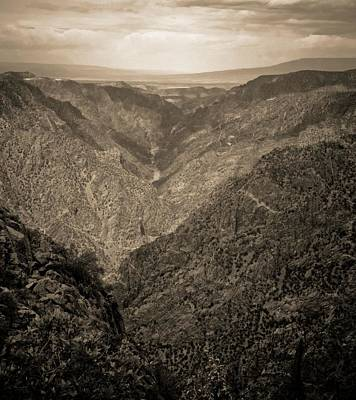 Blue Mesa Reservoir Photograph - Black Canyon Of The Gunnison National Park by Dan Sproul