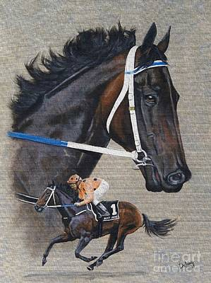 Painting - Black Caviar by Pat DeLong
