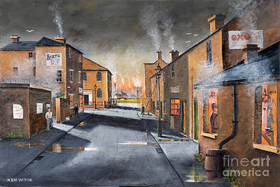 Black Country Village From The Boat Yard Art Print