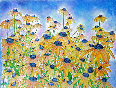 Painting - Black Eyed Susan's by Janet Immordino