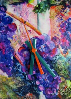 Mixed Media - Black Grapes by Vicki Brevell