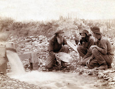 Gold Panning Photograph - Black Hills Gold Rush, 1889 by Science Source