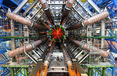 Scientist Photograph - Black Hole Event by Cern
