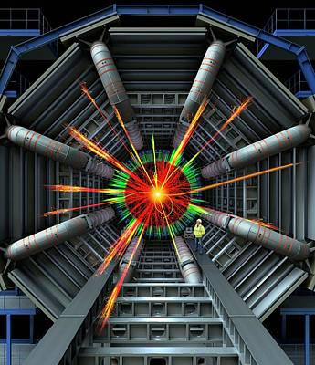 Black Hole Photograph - Black Hole Simulation On Lhc by David Parker
