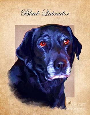 Black Labrador Art Art Print by Iain McDonald