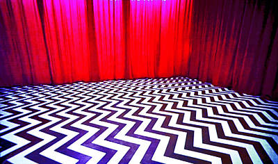 Black Lodge Print by Luis Ludzska
