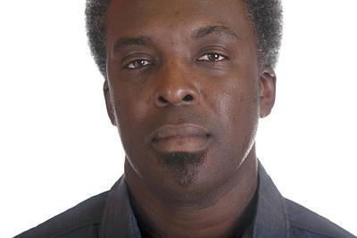 Photograph - Black Male Headshot by Gunter Nezhoda
