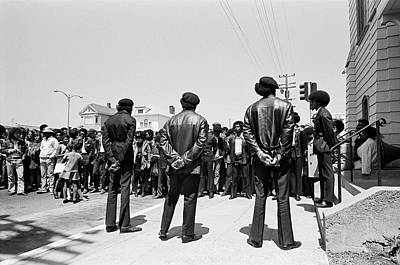 Photograph - Black Panther Funeral by Underwood Archives