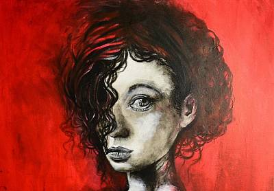 Painting - Black Portrait 23 by Sandro Ramani