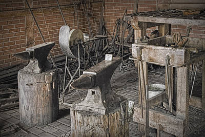 Smithy Photograph - Black Smith Shop In Fort Edmonton by Randall Nyhof