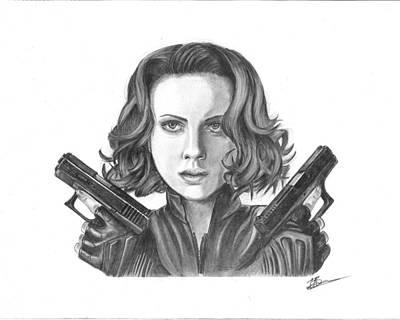 Black Widow Drawing - Black Widow by Carl Barrow
