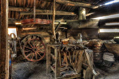 Blacksmith Shop Art Print by Jaki Miller