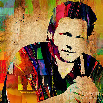 Blake Shelton Collection Art Print