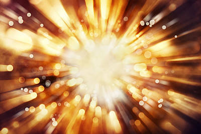 Sun Rays Digital Art - Blast Background  by Les Cunliffe