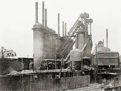 Iron Wire Photograph - Blast Furnaces by Hagley Museum And Archive