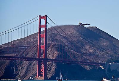 Blasting By The Golden Gate Art Print