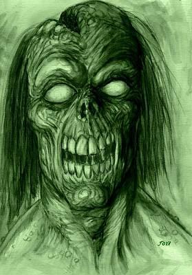 Universal Monsters Painting - Blind Dead by Jack Joya
