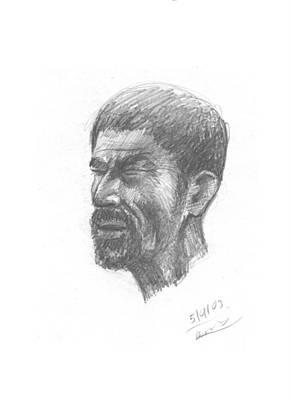 Drawing - Blind Man by Prakash Leuva