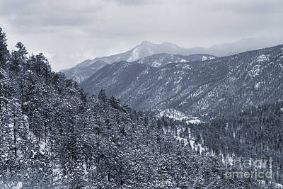 Steven Krull Royalty-Free and Rights-Managed Images - Blizzard on Pikes Peak by Steven Krull