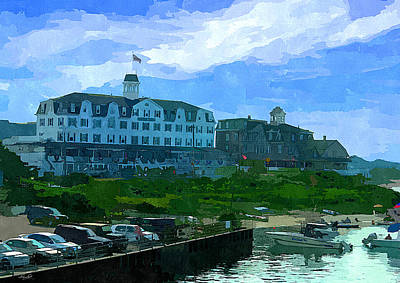 Block Island Art Print by Lourry Legarde
