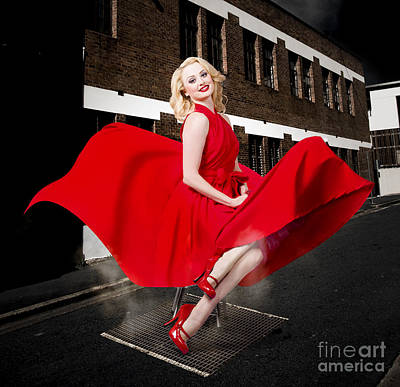 Marilyn Photograph - Blond Marilyn Monroe Pinup Girl In Retro Dress by Jorgo Photography - Wall Art Gallery