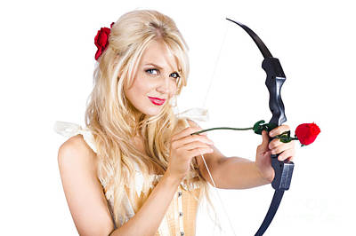 Blond Woman With Cupid Bow Art Print by Jorgo Photography - Wall Art Gallery