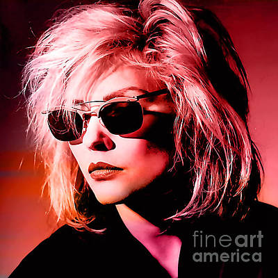 Rock Stars Mixed Media - Blondie Debbie Harry by Marvin Blaine