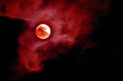 Photograph - Blood Moon by Joe  Burns