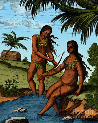 Bloodletting Native Central American Art Print by Science Source