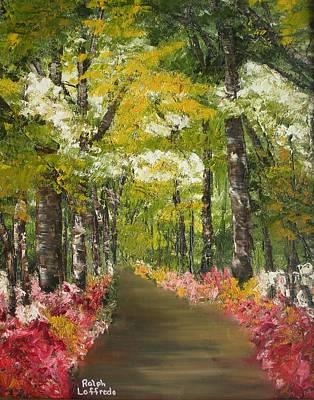 Smokey Mountains Painting - Blooming Borders by Ralph Loffredo
