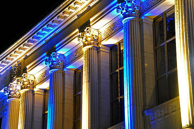 Photograph - Blue And Gold Doe Library by Joel Thai