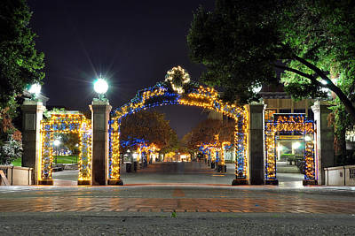 Blue And Gold Sather Gate Art Print