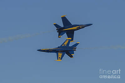 Photograph - Blue Angels Close Quarters by D Wallace