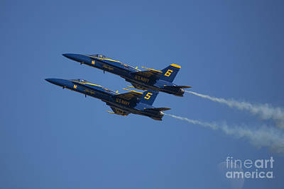Photograph - Blue Angels Double Over Moon 2 by D Wallace