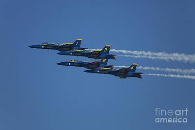 Photograph - Blue Angels Fly By 1 by D Wallace