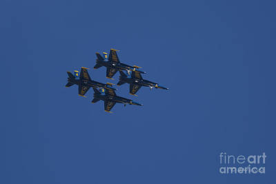 Photograph - Blue Angels Overhead 2 by D Wallace