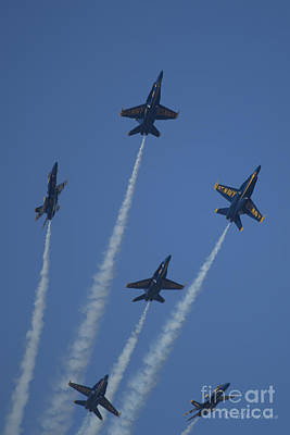 Photograph - Blue Angels Star Burst 1 by D Wallace