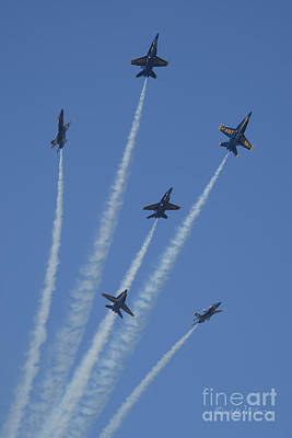 Photograph - Blue Angels Star Burst 2 by D Wallace