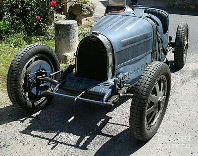 Transportion Photograph - Blue Bugatti Oldtimer by Christiane Schulze Art And Photography