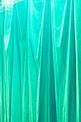Blue Curtain Art Print