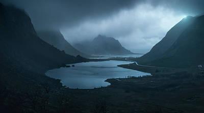 Norway Wall Art - Photograph - Blue by David Mart?n Cast?n