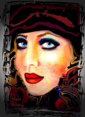 Natalie Holland Art Mixed Media - Blue Eyes by Natalie Holland