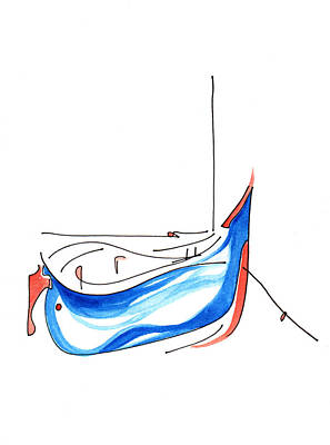 Painting - Blue Fishing Boat by Anna Elkins