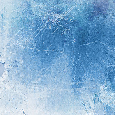 Blue Grunge Background Original by Kirsty Pargeter