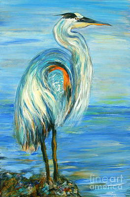 Painting - Blue Heron I by Ellen Anthony