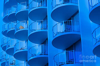 Photograph - Blue Hotel Balcony Abstract. by Don Landwehrle