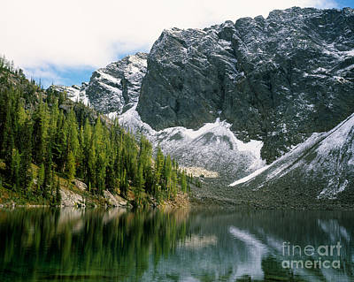 Blue Lake Art Print by Tracy Knauer