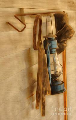 Lantern Digital Art - Blue Lantern  by Brian Mollenkopf