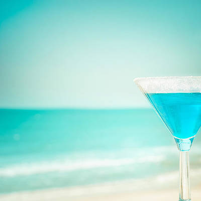 Martini Royalty-Free and Rights-Managed Images - Blue margarita cocktail  by Perfect Lazybones