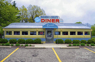 Art Print featuring the photograph Blue Moon Diner by JRP Photography